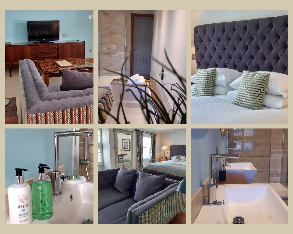 Blue room collage